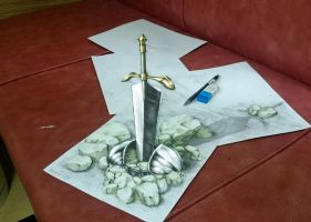 CLAYMORE - a warrior's grave by huxne123
