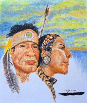 The Protectors at Standing Rock by NoelZepeda-ART