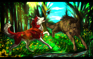 Collab| Balto and Jenna by AgentWhiteHawk