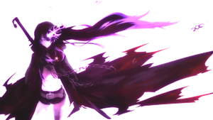 Black Rock Shooter (Purple) Render by Halokiller485