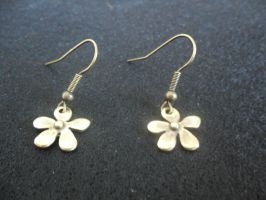 036. Spring Earrings (Old Gold) by Nacrases