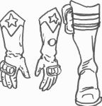 Right-winger and Left-winger gloves and boots by Spake759