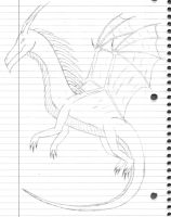Random Dragon Sketch by Mordecai1423