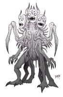 concept sketch - 3-headed critter by MallonIllustration
