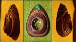 penta power protection pendant by AvocadoArt