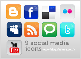 Social Media Icons by akaleez88