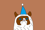 Grumpy Cat with a Party Hat by MikeEddyAdmirer89