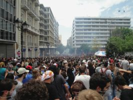 Tear Gas in Athens by TheAppleScientist