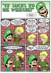 Sucks to be Luigi: Flirting by kevinbolk
