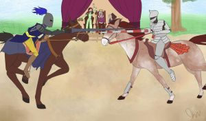 A jousting we will go by Tehonlyme