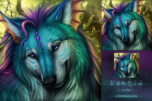 Icon Commission for Vantid by DarkIceWolf