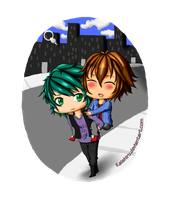 -- Chibi Commission: Johan and Judai -- by Kaishiru