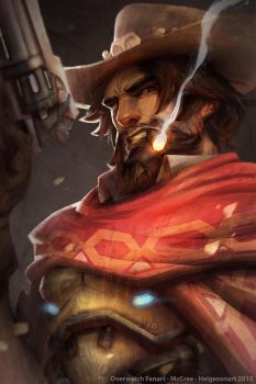 Overwatch Fanart McCree by kaktuzlime