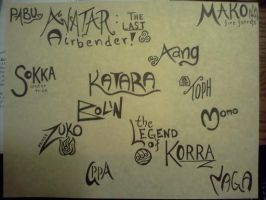 Avatar: The Last Airbender Calligraphy by xxBrandy