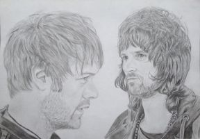 Tom meighan and sergio pizzorno kasabian by CamilaWay