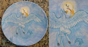 Gryphon Plate - Fired by Dreamspirit