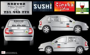 Delivery- car stickers 2 by R1Design