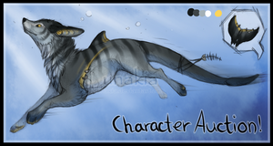 Striped Fishwolf AUCTION [open] by Lunakia