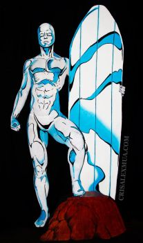 Silver Surfer Full Body Paint by CrisAlexMUA
