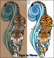 ATLA - Rilu's Tiger in Waves by Ai-Bee