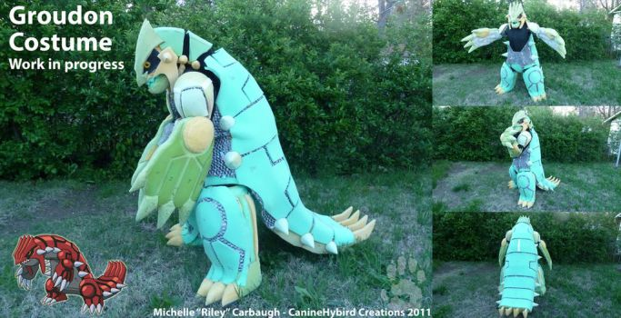 Groudon Costume- WIP by CanineHybrid
