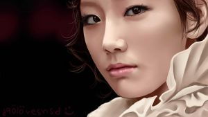 Kim Taeyeon Digital Painting by deAtHwiSH90