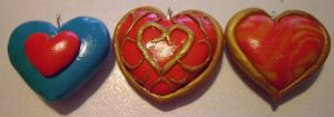 Legend of Zelda Heart Containers 2 by delicioustrifle