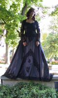 Black Ballgown Terra 15 by Falln-Stock