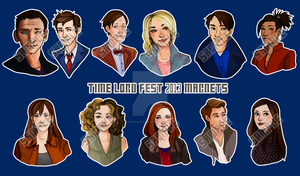 Doctor Who Magnets by ChibiHaruChans
