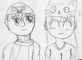 Mr.Whiskers and Colossus anime hat by corafreakshow