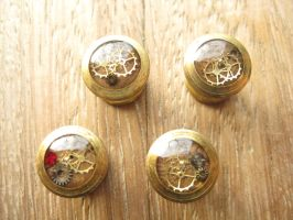 Steampunk tuxedo shirt collar studs by ProfessorBats