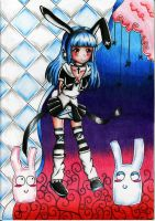 .: Black Bunny Contest :. by Vixenu