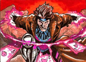 Gambit Sketch Card by Sigint