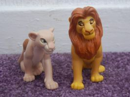 Lion King Applause Adult Simba and Nala Figures by LittleRolox3