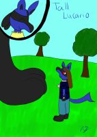Meeting of the Tall-Lucario by AuraMaster-Lucario