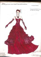Jaina Solo's Wild Berry Gown by Selinelle