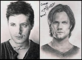 J2 Signed Portraits by LadyKryptonite294