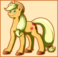 Pony style practice - Applejack by Arcticwaters