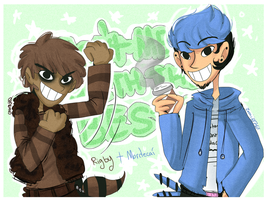 Mordecai and Rigby by cam070