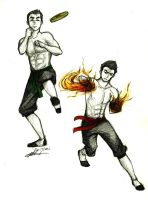 Training: Mako and Bolin by charmontez