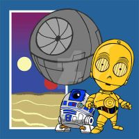 Tiny 3PO and R2 by Sideways8Studios