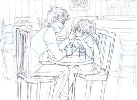 WIP Harry and Ginny on a Date by burdge