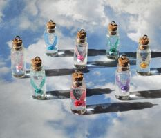 Zelda - Healing Fairy in a Bottle Necklace Charms by YellerCrakka