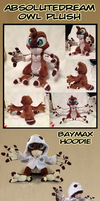 AbsoluteDream Owl Plushie (with Baymax hoodie) by AbsoluteDream