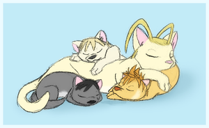 Nap time with the bittys by Arcticwaters