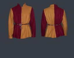 red and yellow doublet by Janes-Wardrobe