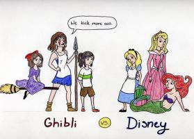 Ghibli vs. Disney by timetofrolic