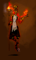 Fire Mage Concept by clockworkViper