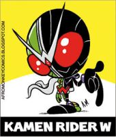 Kamen Rider Double Sticker by PacoAfroMonkey