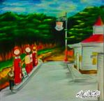 The 1940 Gas Station by Edward Hopper (My Version) by HaruXHaru